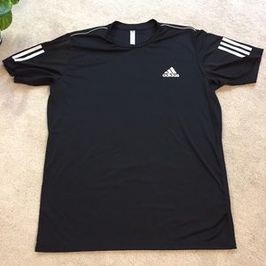 adidas | Climacool black athletic tee size Large